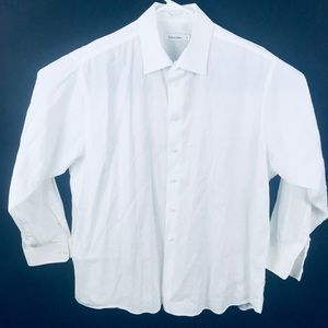 Calvin Klein Shirts - Men's button down dress white Calvin Klein Shirt
